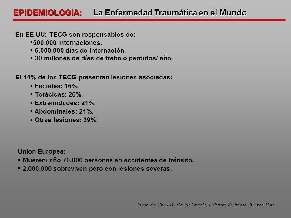 EPIDEMIOLOGIA: La Enfermedad Traumática en el Mundo