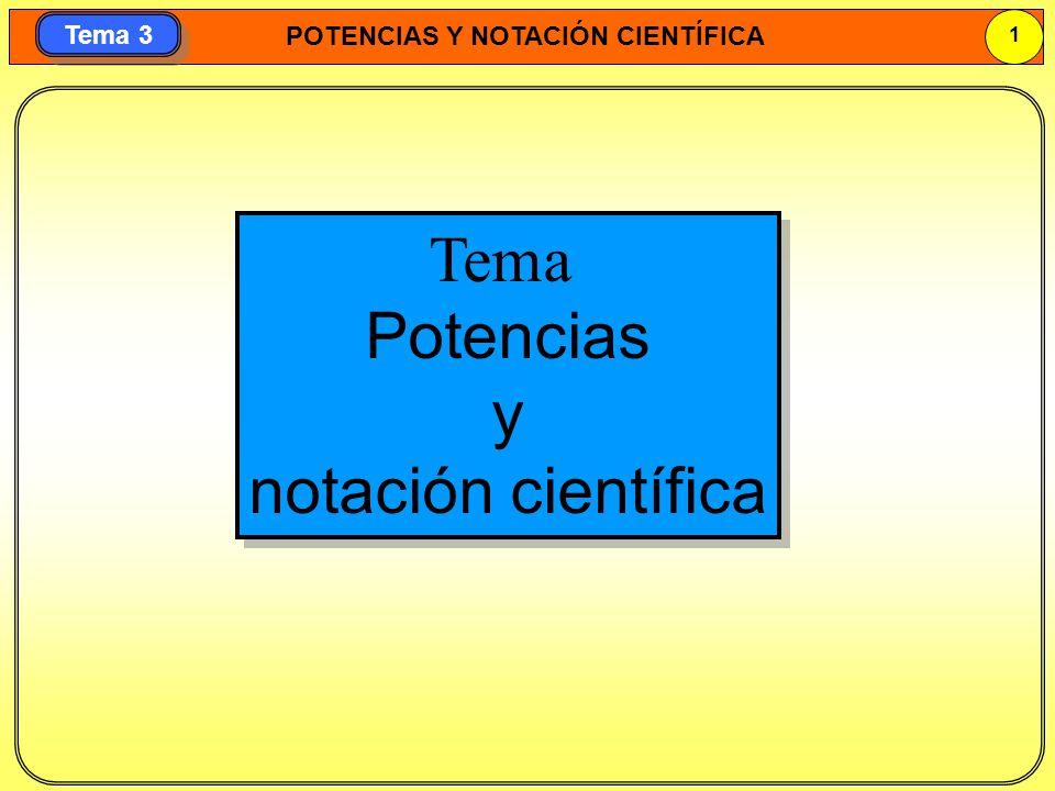 Tema Potencias y notación científica