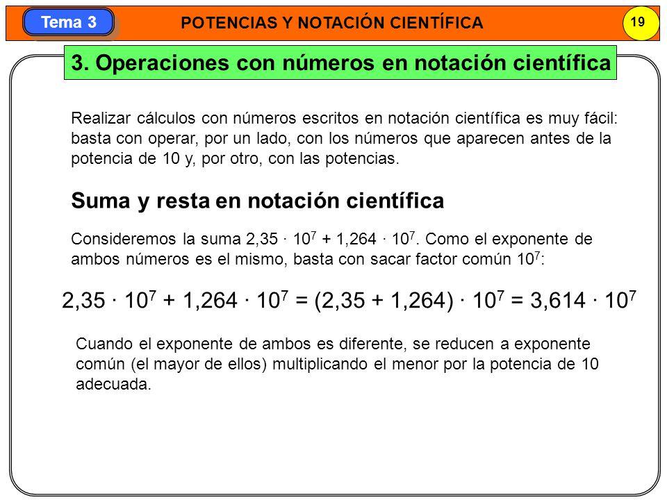 3. Operaciones con números en notación científica