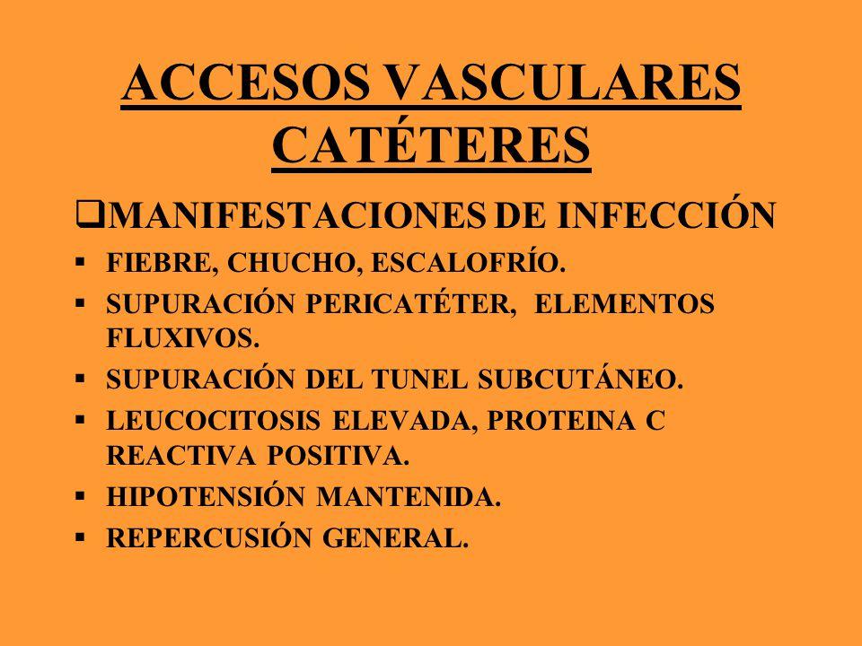 ACCESOS VASCULARES CATÉTERES