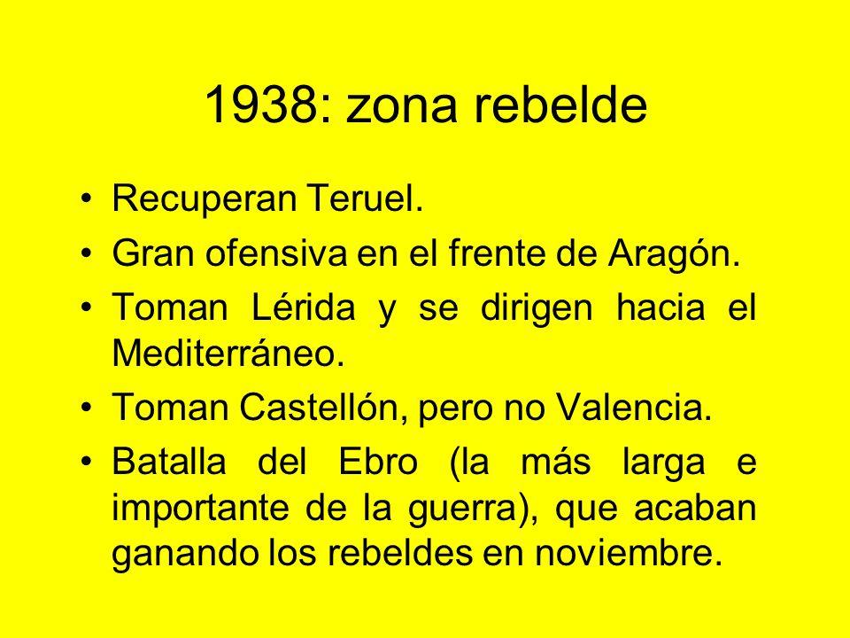 1938: zona rebelde Recuperan Teruel.