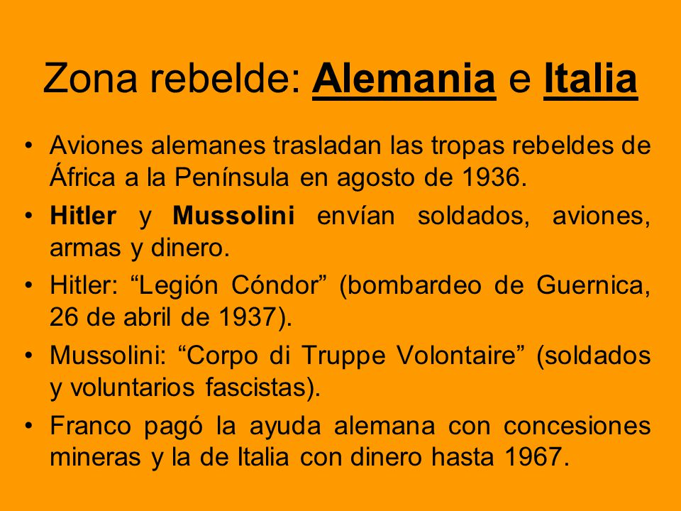 Zona rebelde: Alemania e Italia