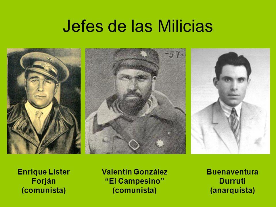 Jefes de las Milicias Enrique Lister Forján (comunista)