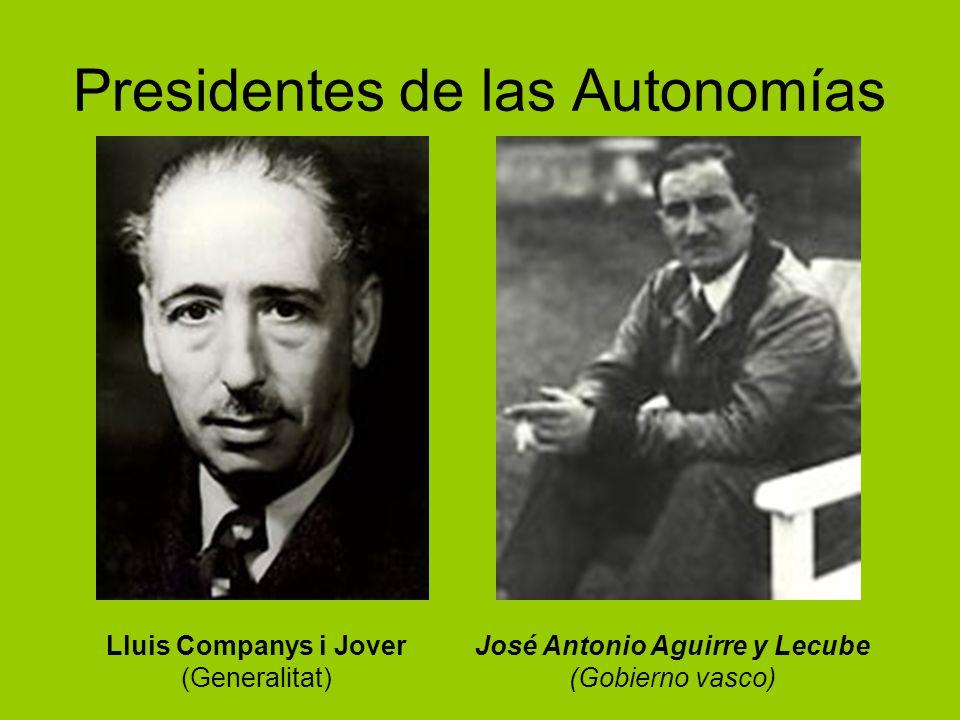 Presidentes de las Autonomías