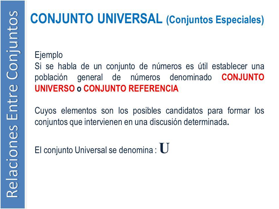 CONJUNTO UNIVERSAL (Conjuntos Especiales)