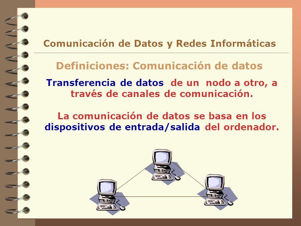 Definiciones: Comunicación de datos