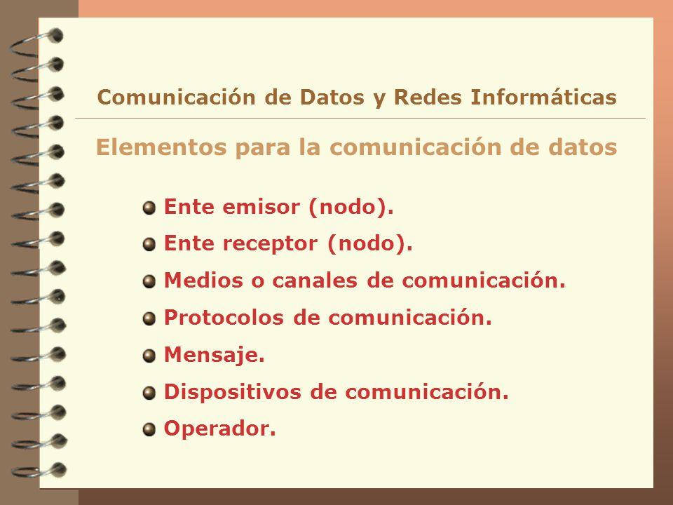 Elementos para la comunicación de datos