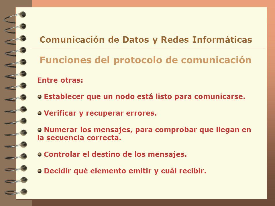 Funciones del protocolo de comunicación