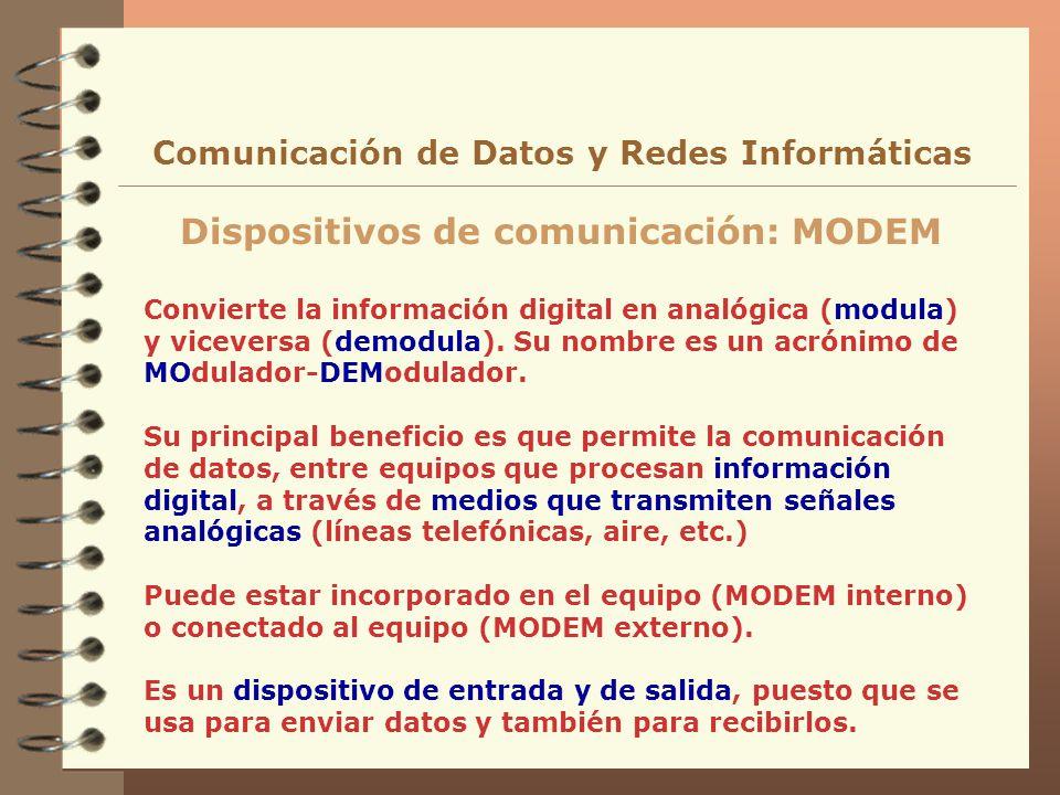 Dispositivos de comunicación: MODEM