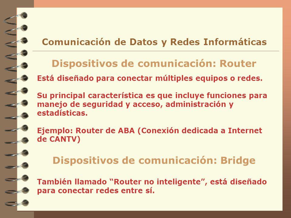 Dispositivos de comunicación: Router