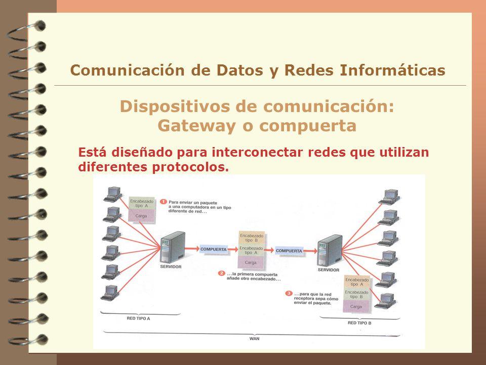 Dispositivos de comunicación: Gateway o compuerta