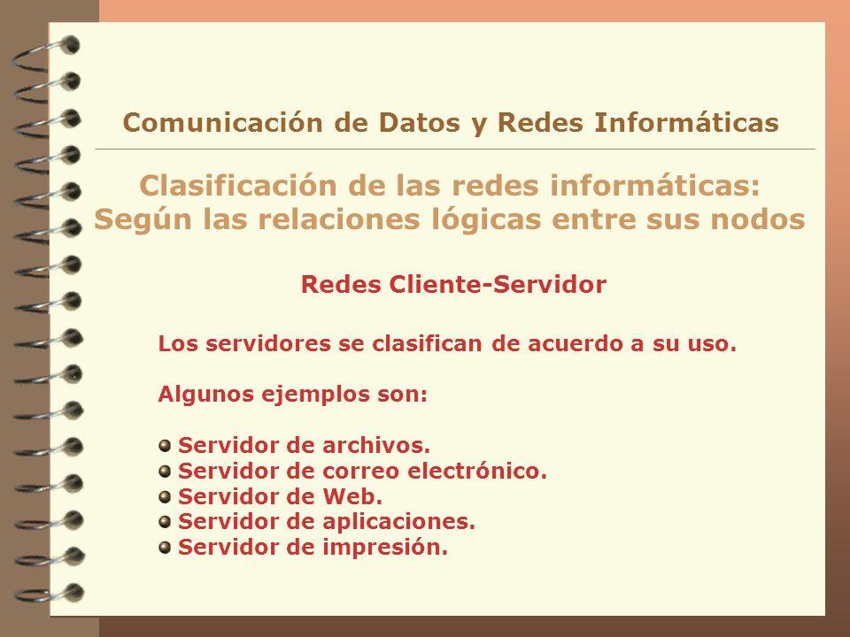 Clasificación de las redes informáticas: