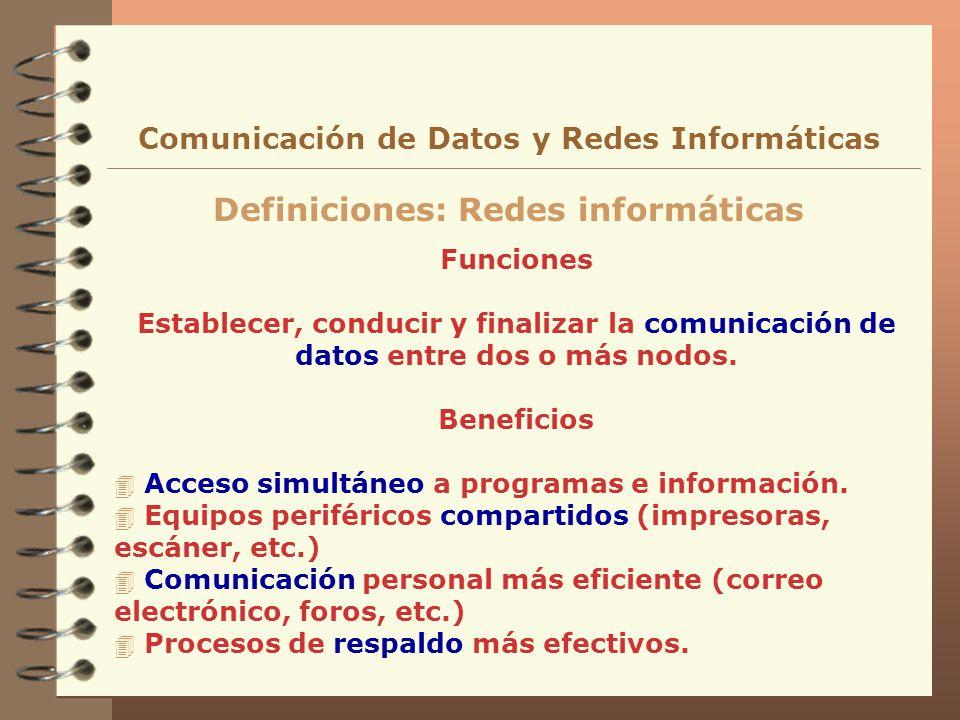 Definiciones: Redes informáticas