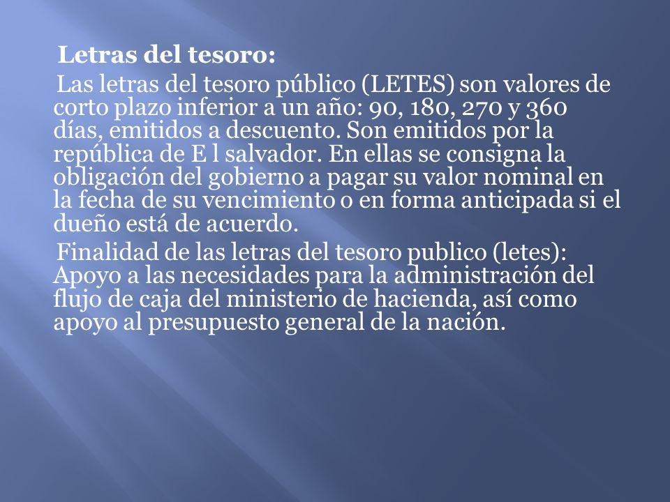 Letras del tesoro: