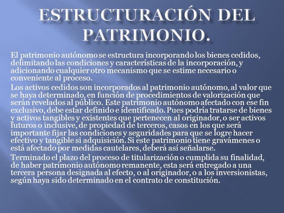 Estructuración del patrimonio.