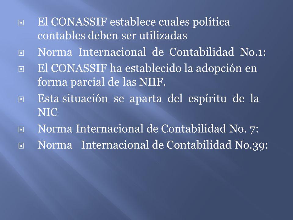 El CONASSIF establece cuales política contables deben ser utilizadas