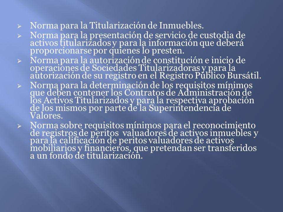 Norma para la Titularización de Inmuebles.