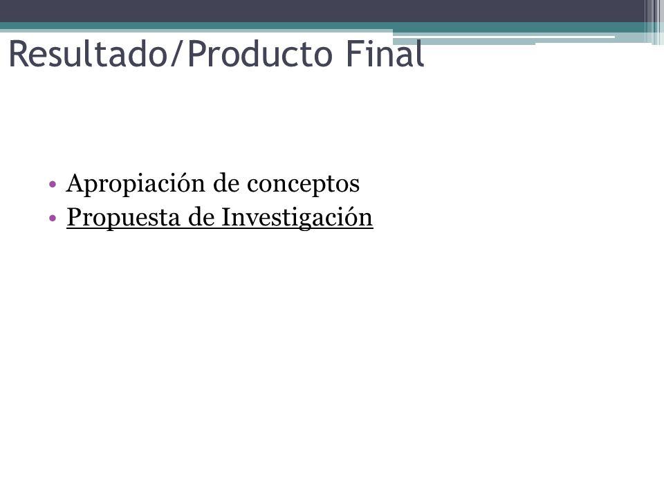 Resultado/Producto Final