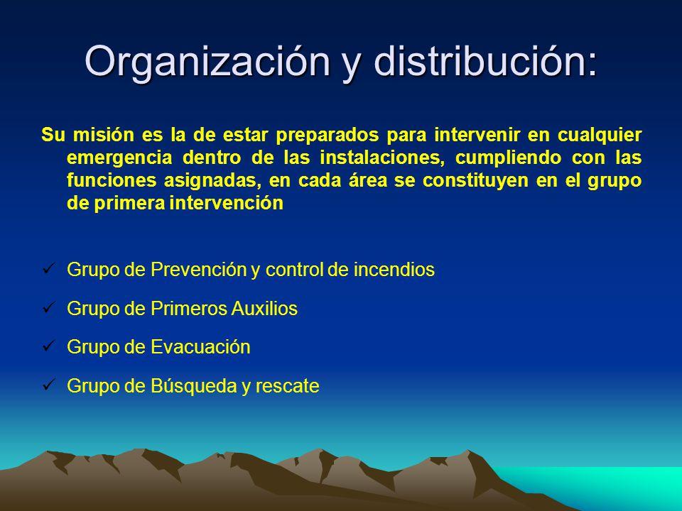 Organización y distribución:
