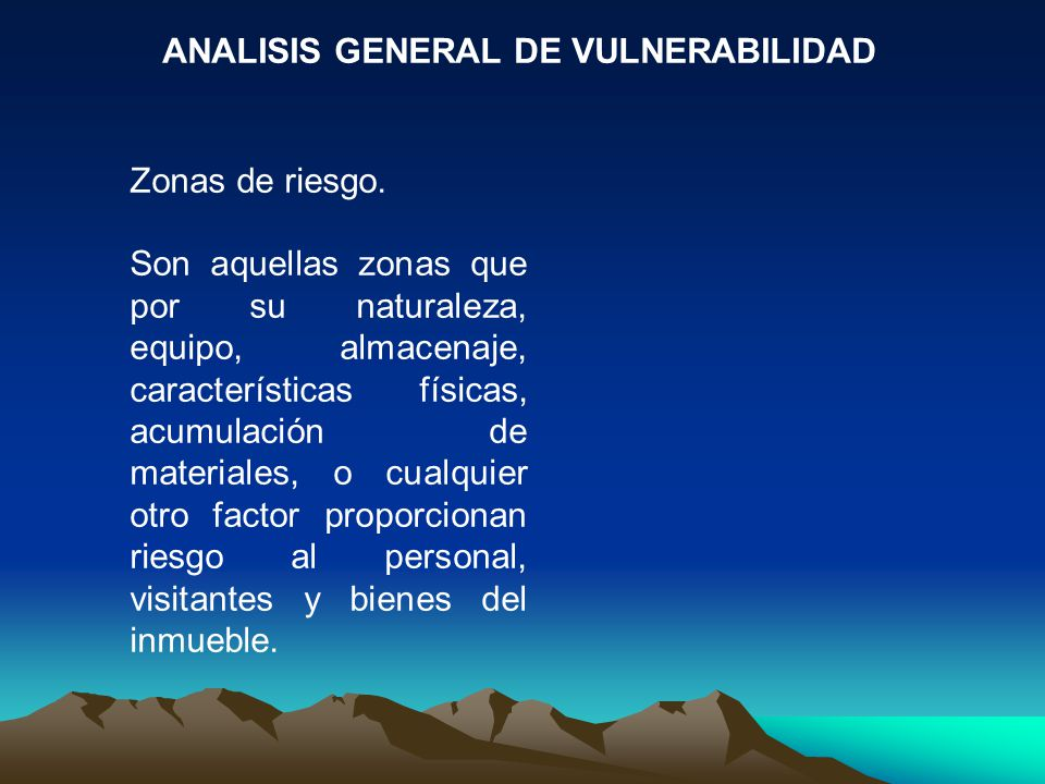ANALISIS GENERAL DE VULNERABILIDAD