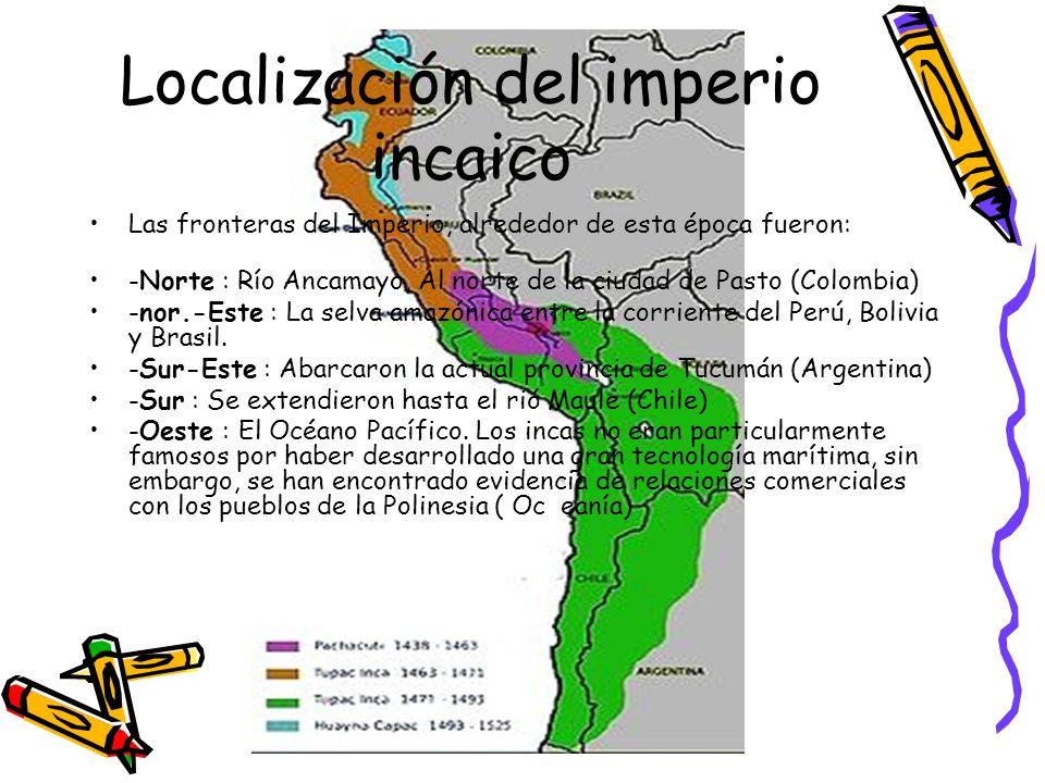Localización del imperio incaico