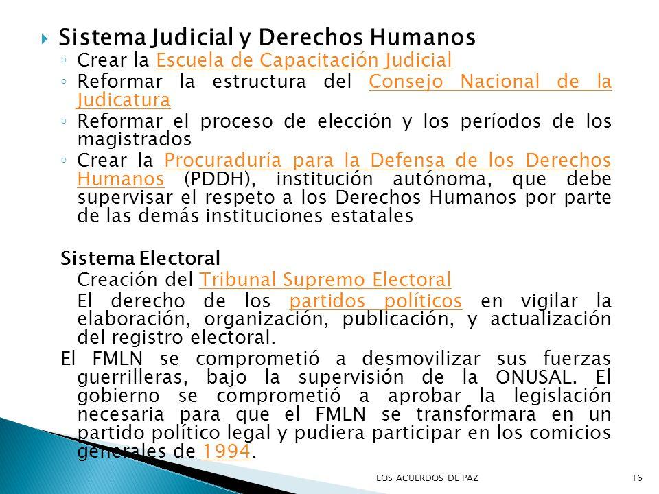 Sistema Judicial y Derechos Humanos