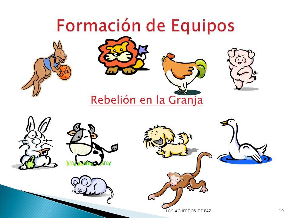 Formación de Equipos Rebelión en la Granja LOS ACUERDOS DE PAZ