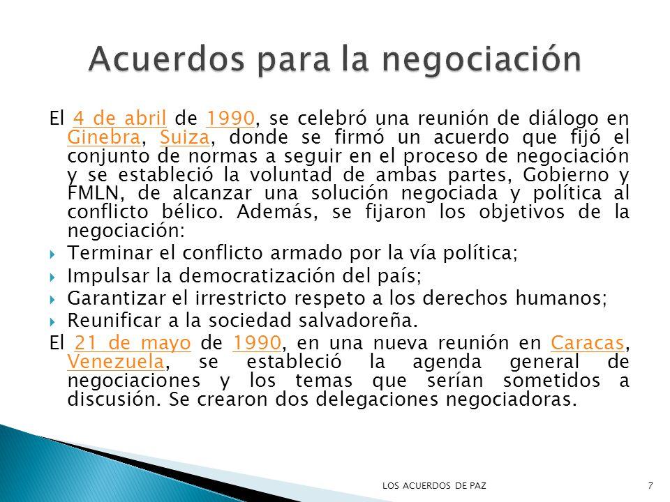 Acuerdos para la negociación