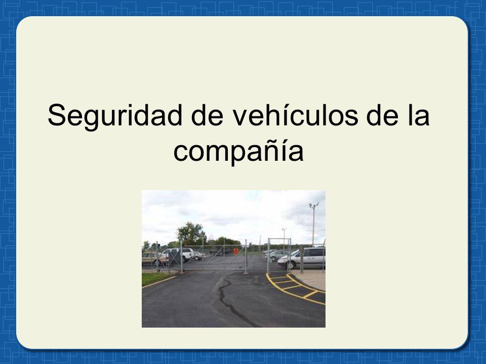 Seguridad de vehículos de la compañía