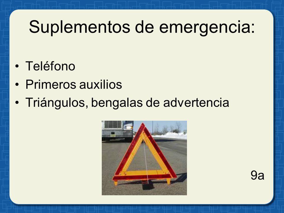 Suplementos de emergencia: