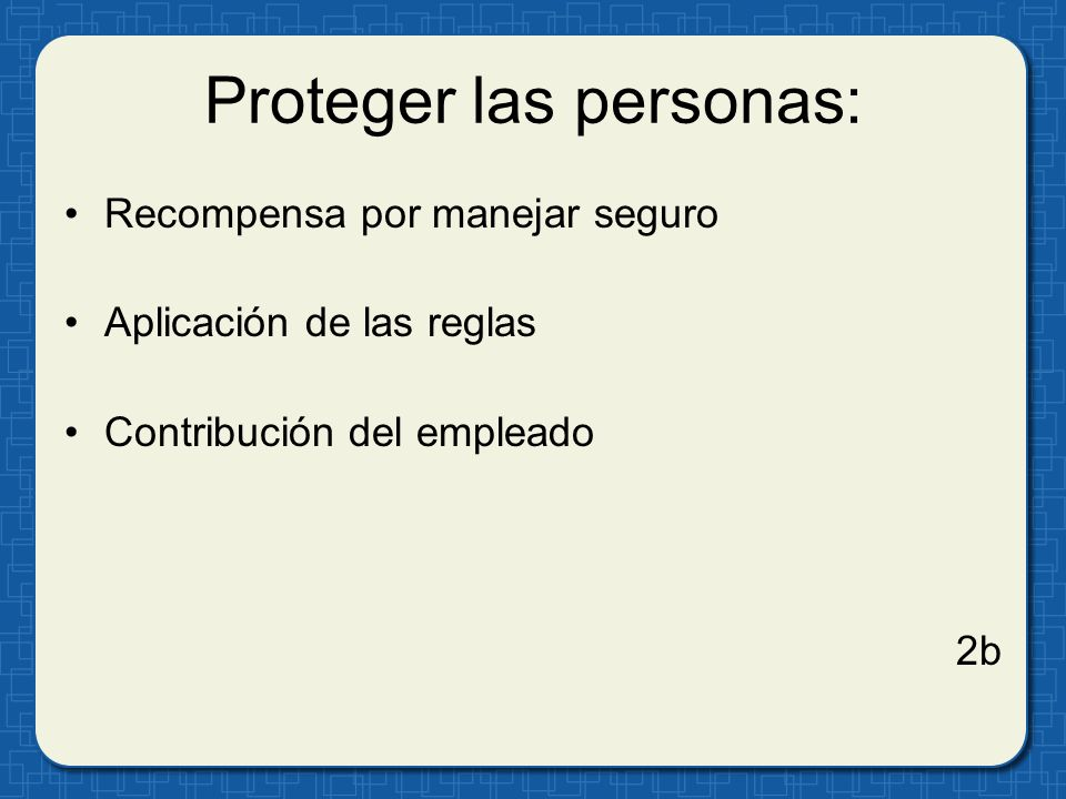 Proteger las personas: