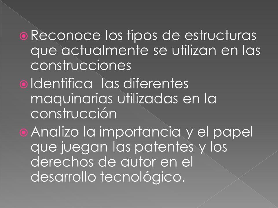 Reconoce los tipos de estructuras que actualmente se utilizan en las construcciones