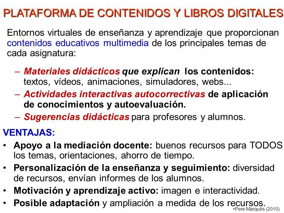 PLATAFORMA DE CONTENIDOS Y LIBROS DIGITALES