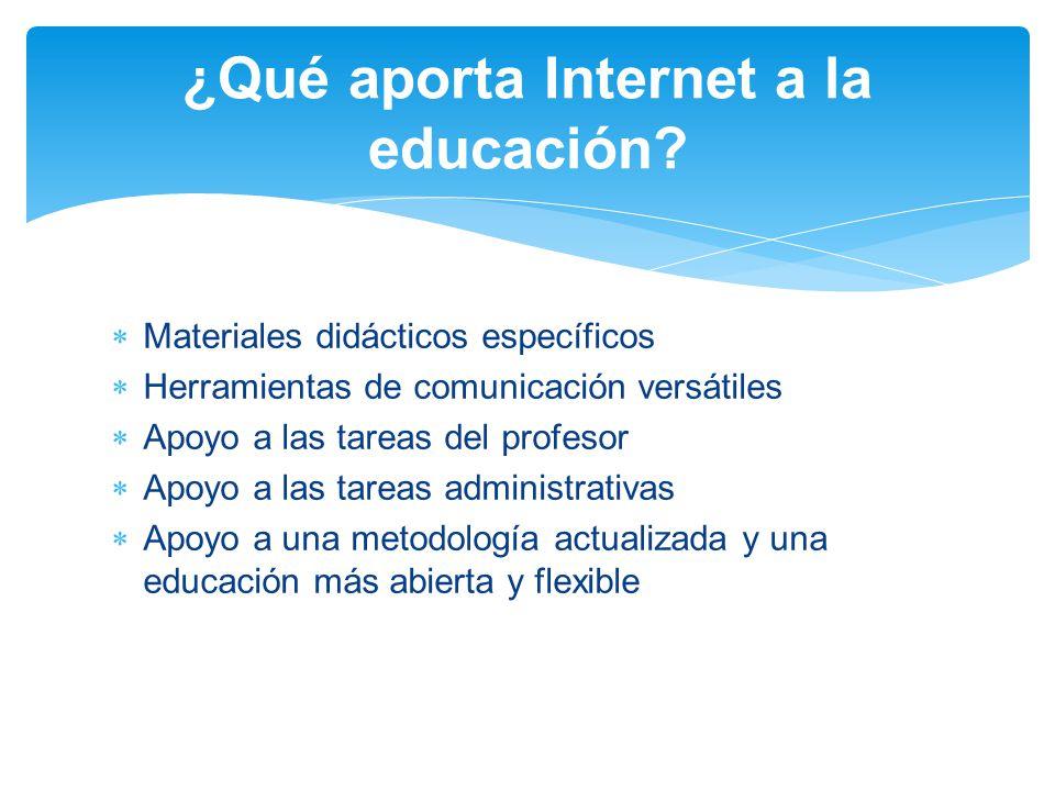 ¿Qué aporta Internet a la educación