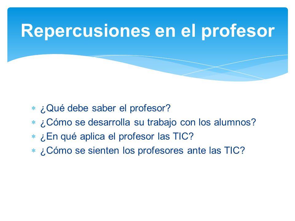 Repercusiones en el profesor