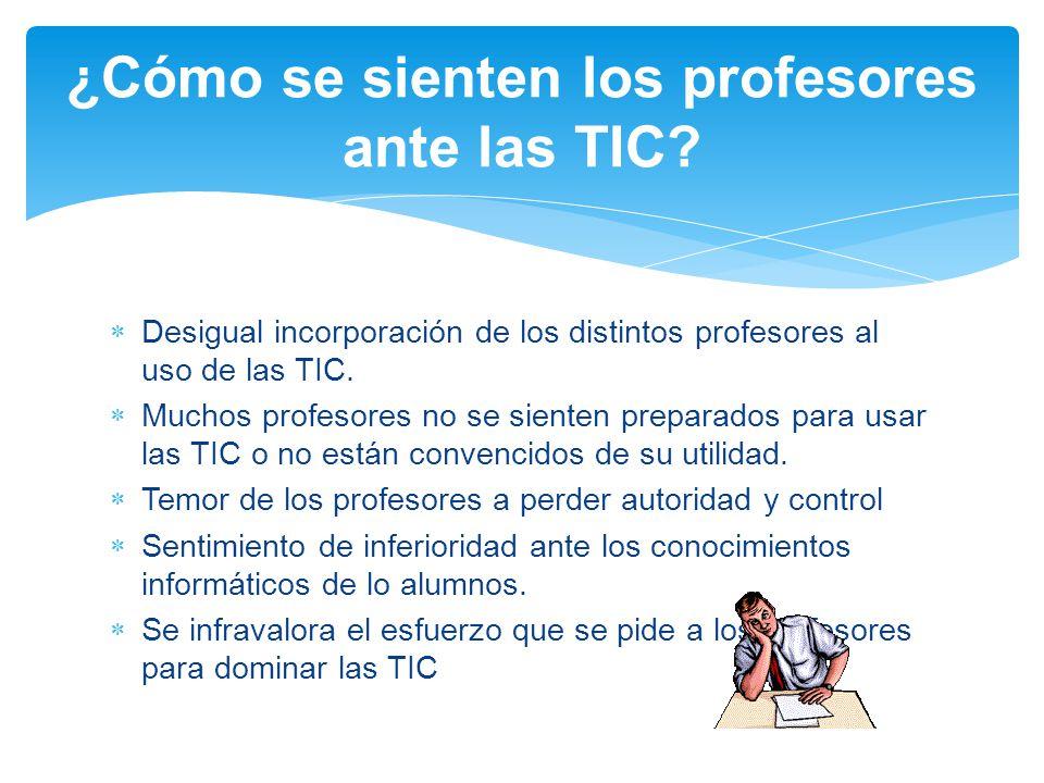 ¿Cómo se sienten los profesores ante las TIC