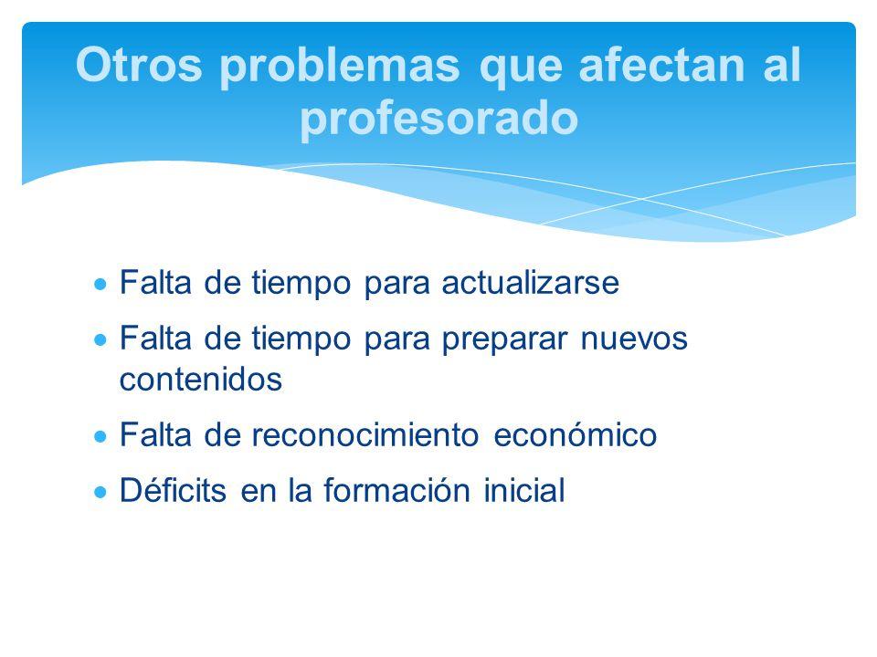 Otros problemas que afectan al profesorado