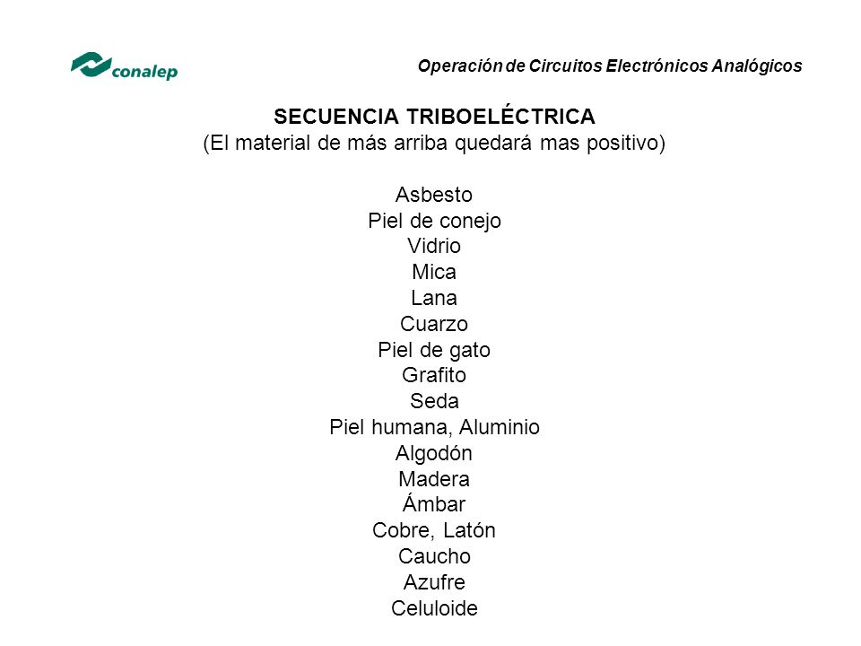 SECUENCIA TRIBOELÉCTRICA