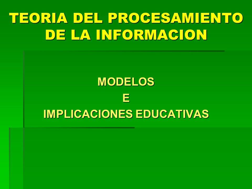 TEORIA DEL PROCESAMIENTO DE LA INFORMACION