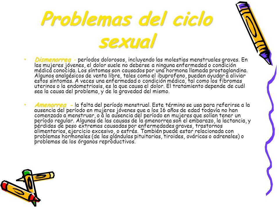 Problemas del ciclo sexual