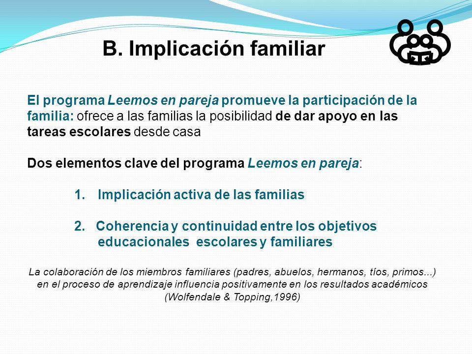 B. Implicación familiar