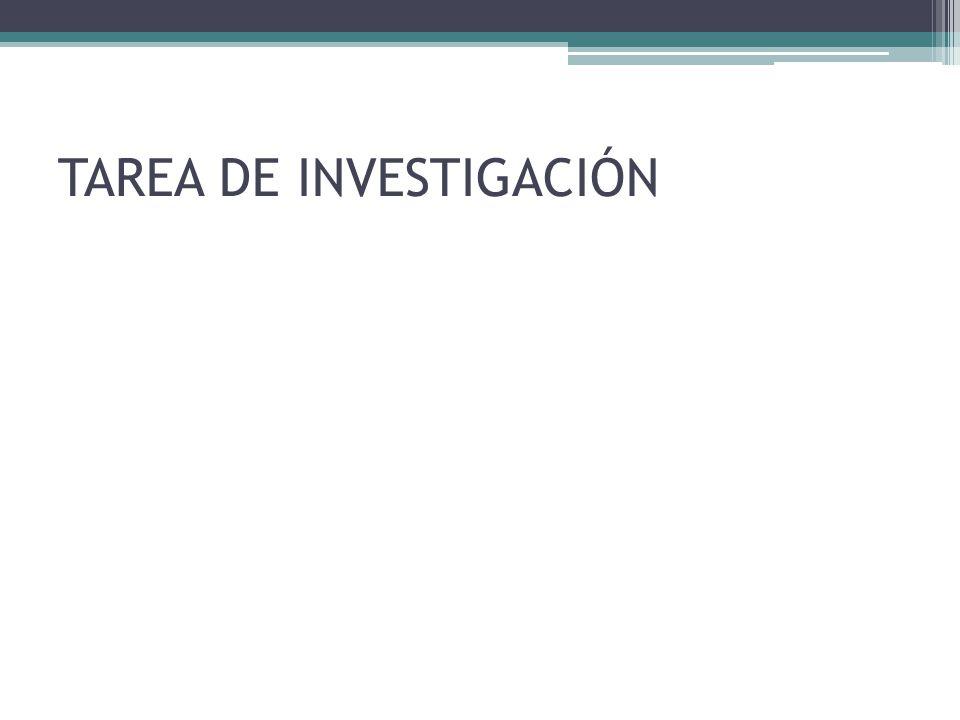 TAREA DE INVESTIGACIÓN
