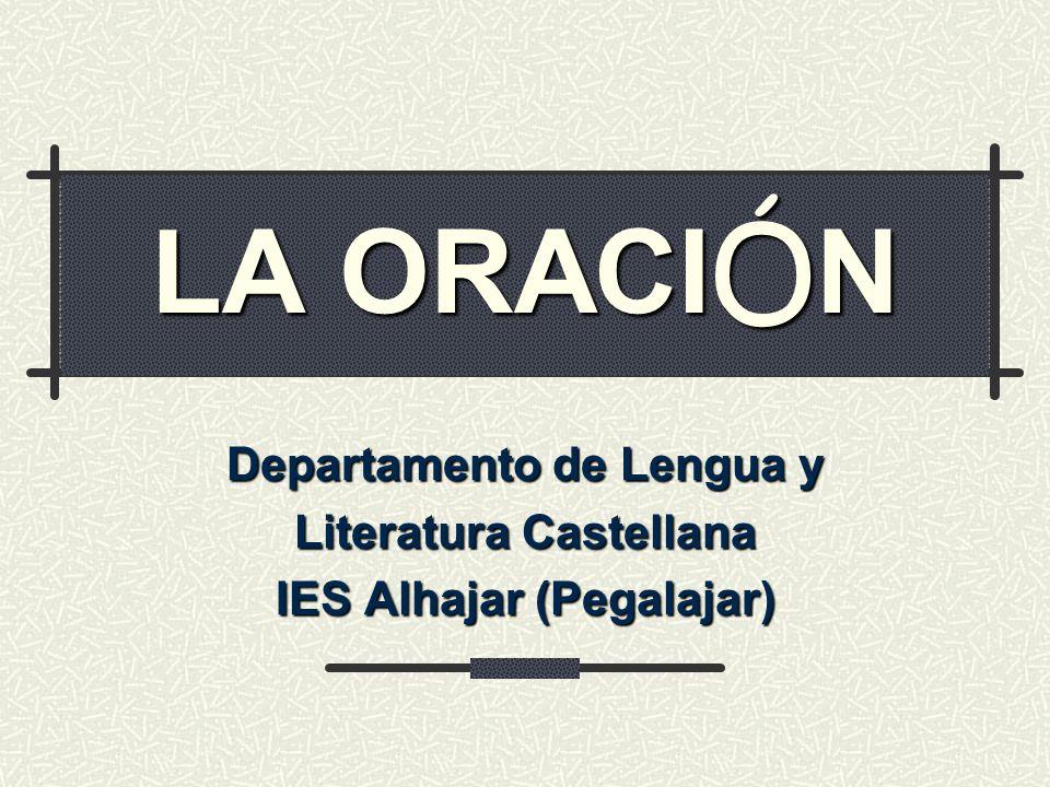Departamento de Lengua y Literatura Castellana IES Alhajar (Pegalajar)