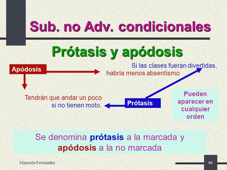 Sub. no Adv. condicionales