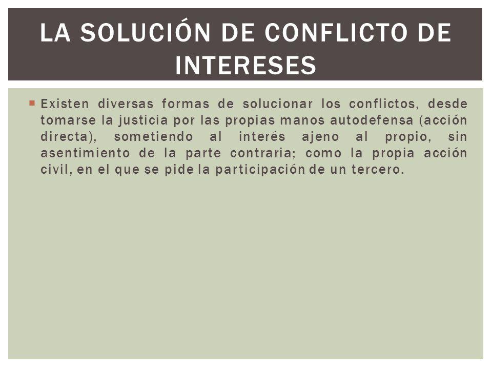 La solución de conflicto de intereses