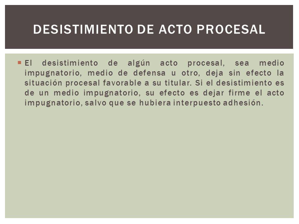 Desistimiento de acto procesal