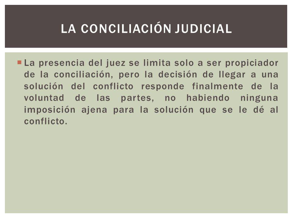 La conciliación judicial