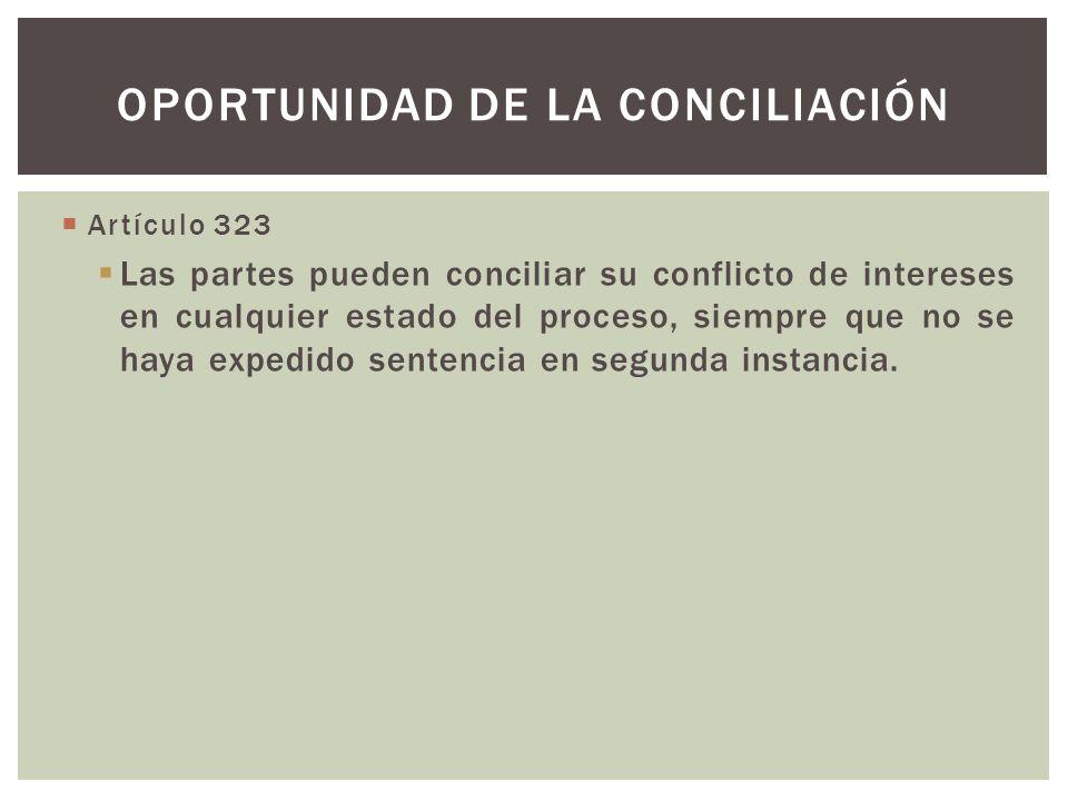 Oportunidad de la conciliación