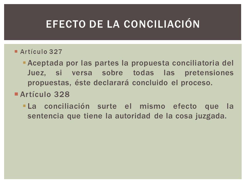 Efecto de la conciliación