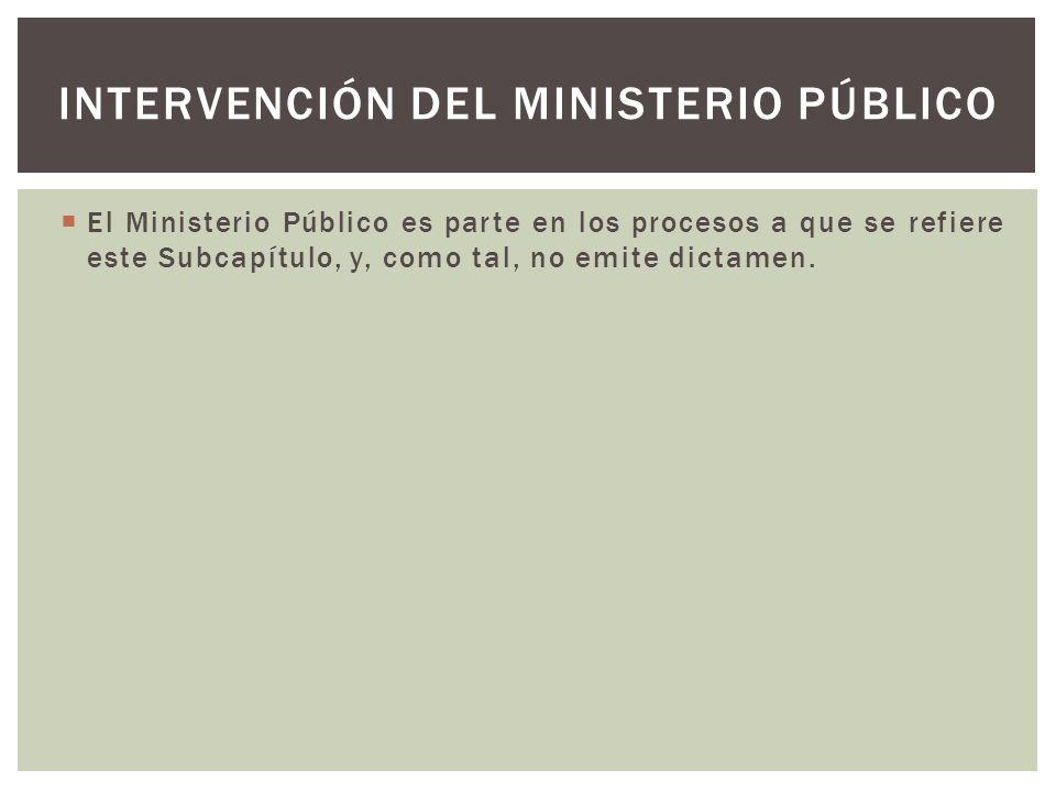 Intervención del Ministerio Público